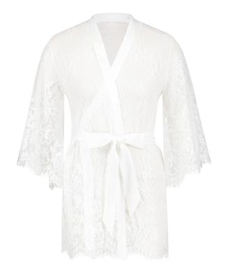 Kimono Lace Isabelle, Blanc