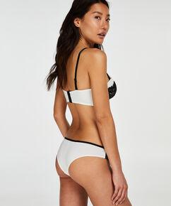 Soutien-gorge à armatures préformé sans bretelles Minnie, Blanc