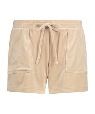 Short Velours Pocket, Beige
