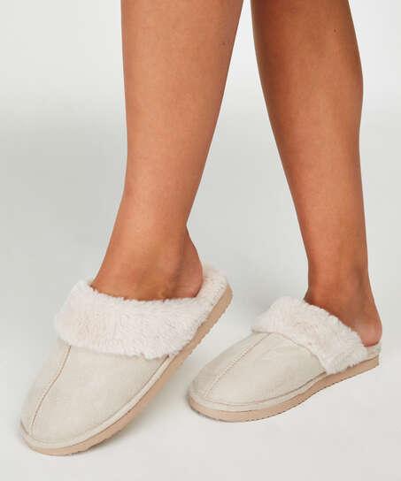 Pantoufles , Blanc
