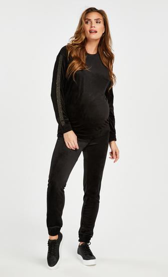 Top de grossesse en velours Shimmer, Noir