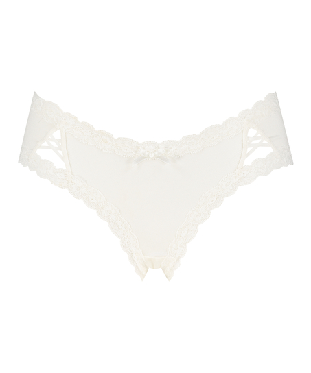 Slip brésilien V-shape Kyla, Blanc