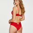 Slip brésilien avec dos ouvert Kat , Rouge