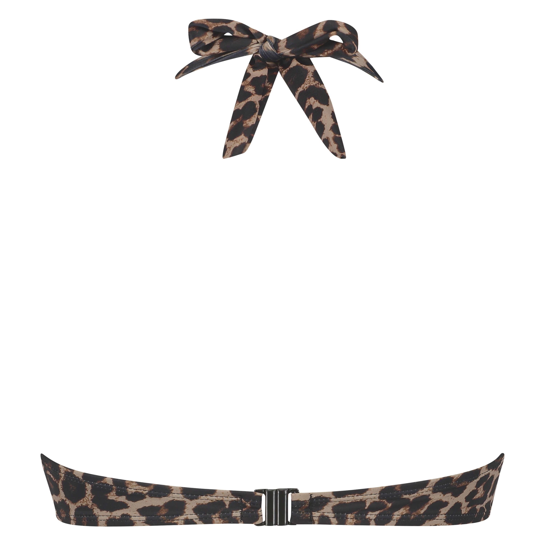 Haut de bikini à armatures à effet push-up préformé Leopard, Beige, main