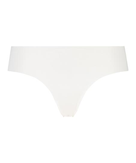 Slip brésilien Invisible coton, Blanc