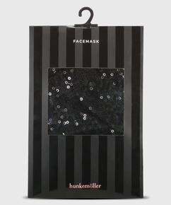 Bonnet buccal Paillette, Noir
