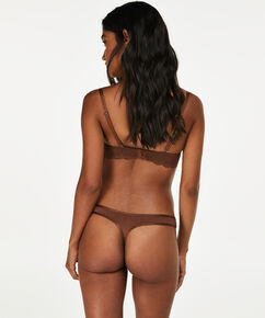 String Angie Nude, marron