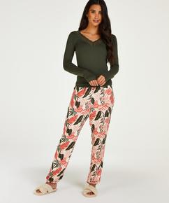 Tall Pantalon de pyjama tissé, Beige