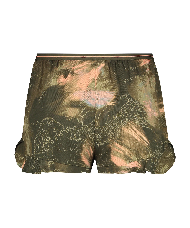 Short de pijama, Vert, main