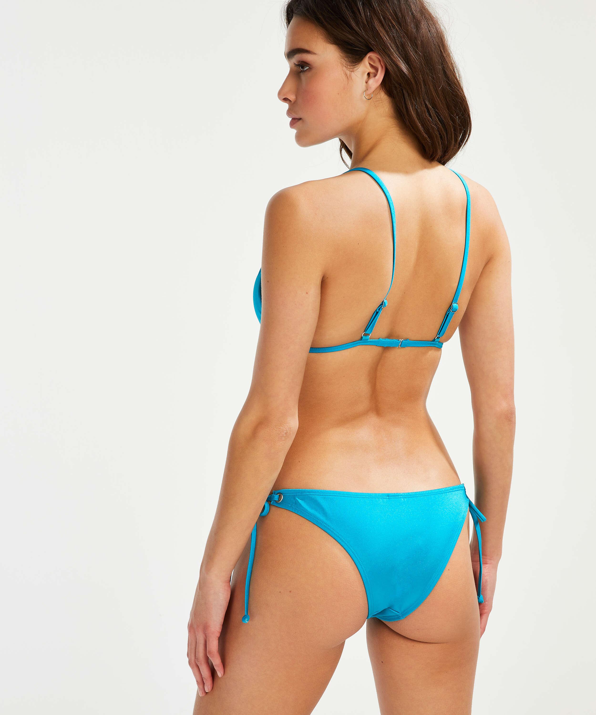Bas de bikini brésilien Tanga Celine, Bleu, main