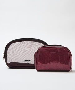 Trousse de maquillage double, Rouge