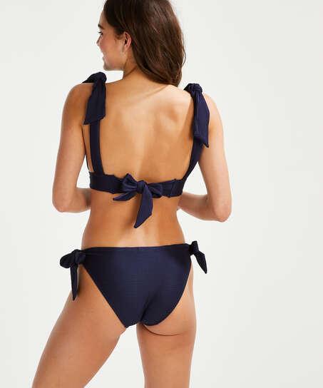 Haut de bikini triangle Harper, Bleu