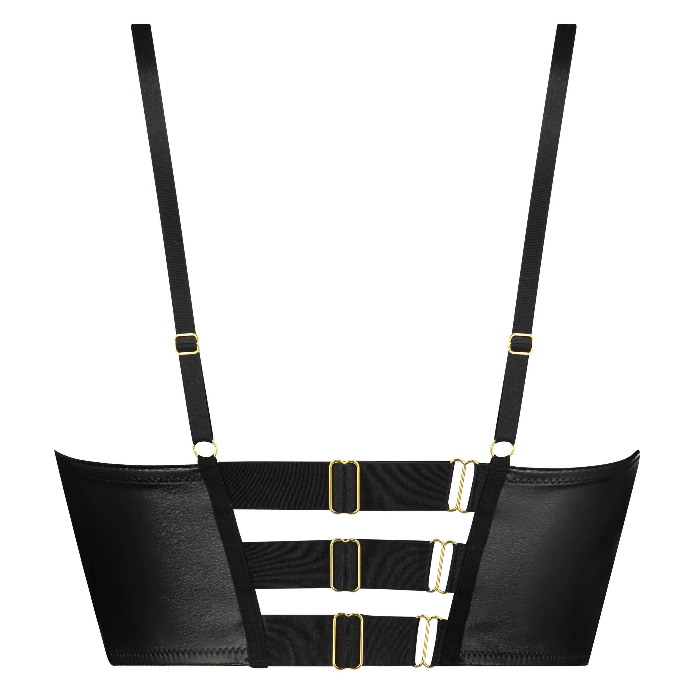 Soutien-gorge à armatures préformé longline Talia Taille E +, Noir, main
