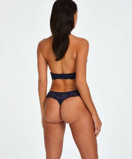 Boxer string Bianca, Bleu