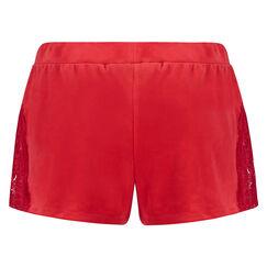 Short de pyjama velours, Rouge