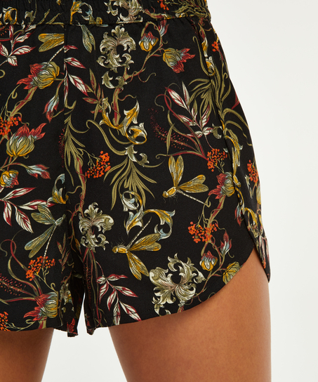 Short de pijama, Noir