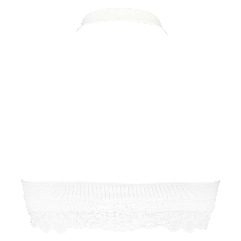 Brassière sans couture Shiloh, Blanc, main