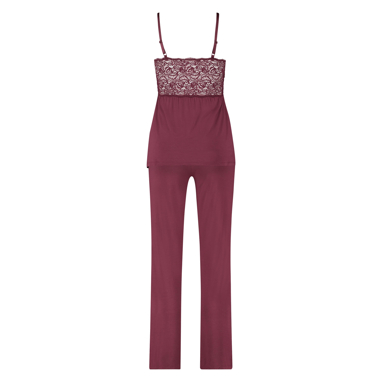 Tenue de pyjama Vera Lace, Rouge, main