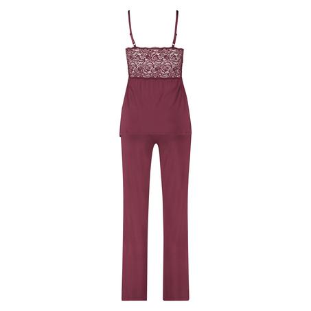 Tenue de pyjama Vera Lace, Rouge