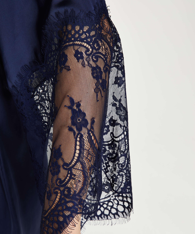 Kimono Satin, Bleu, main