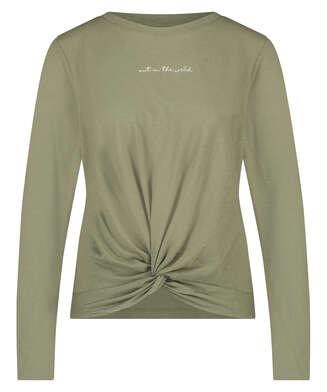 Top à manches longues Jersey Knot, Vert