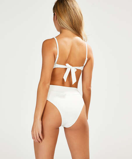Haut de bikini bandeau Emily, Blanc