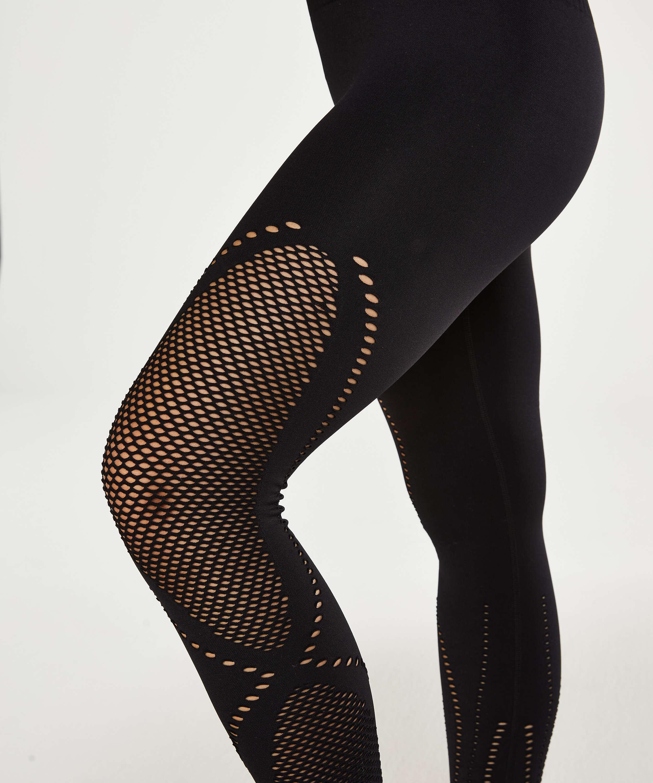 HKMX Legging de sport taille haute sans couture Comfort, Noir, main