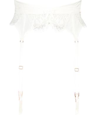 Porte-jarretelles Hannako, Blanc