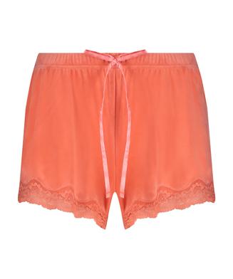 Short velours dentelle, Orange