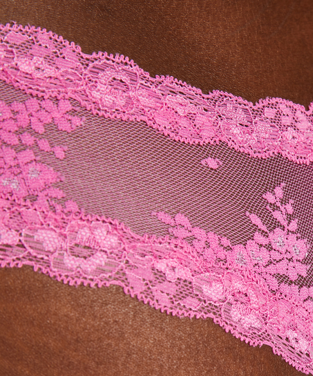 Slip brésilien V-shape mesh, Rose