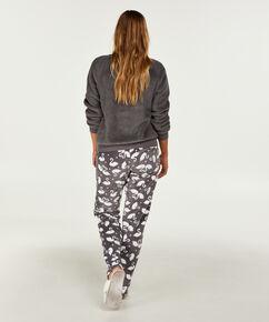 Pantalon de pyjama polaire, Gris