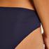 Slip invisible en coton, Bleu