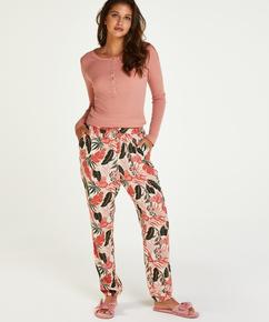 Pantalon de pyjama tissé, Beige