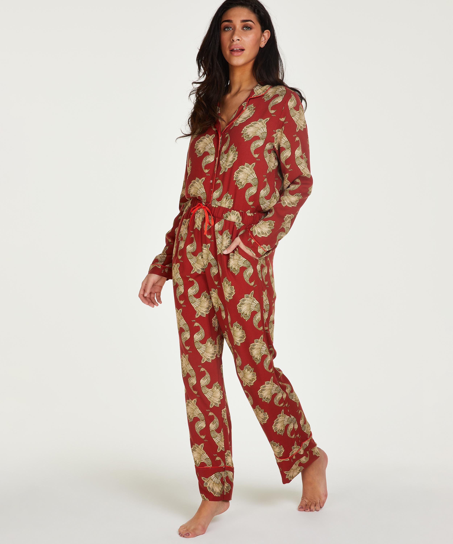 Tall Pantalon de pyjama tissé, Rose, main