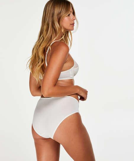 Slip taille haute Sophie, Blanc