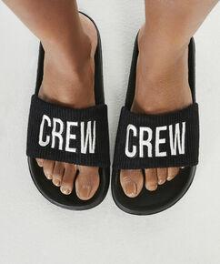 Sandales Crew, Noir