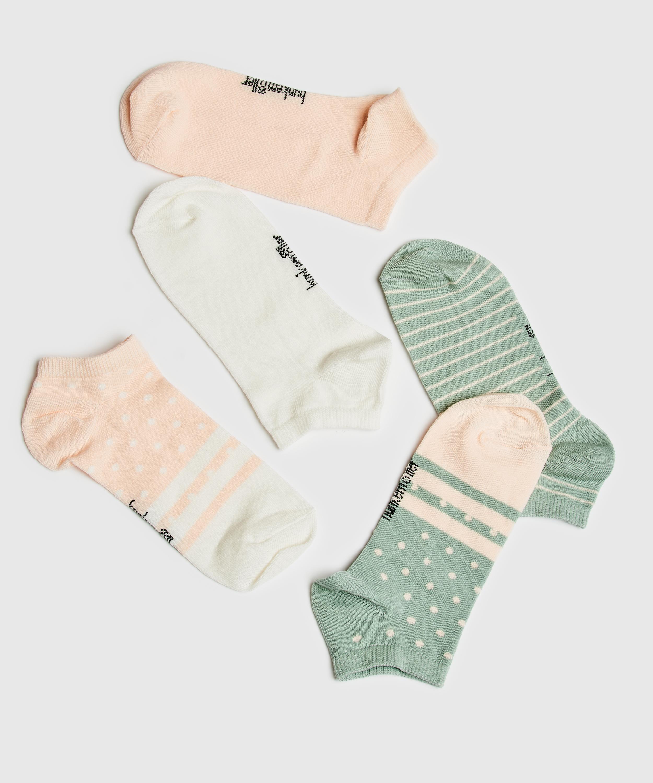 5 paires de chaussettes trainerliners, Blanc, main