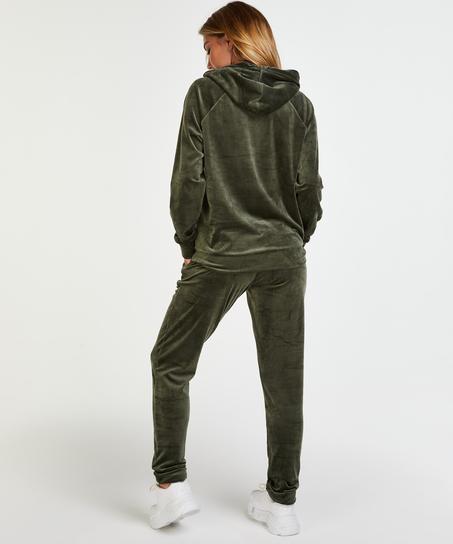 Pantalon de jogging Velours, Vert