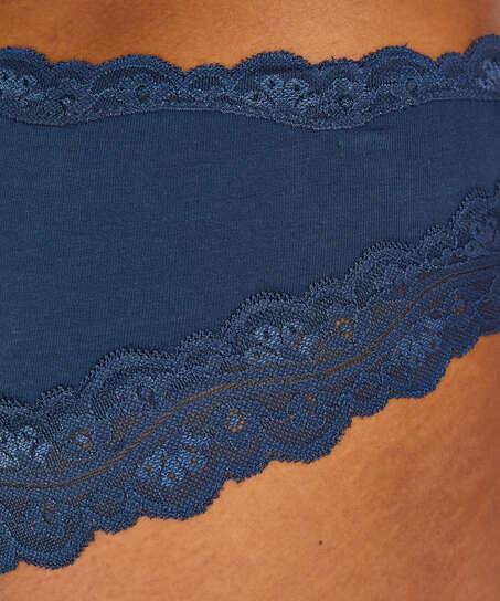 Slip brésilien coton, Bleu