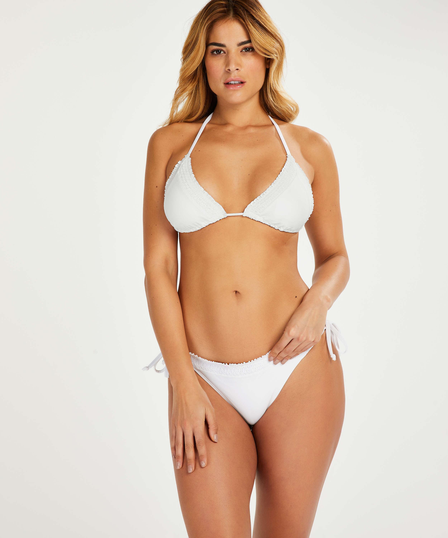 Haut de bikini triangle Remi Stitch, Blanc, main