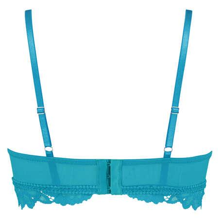 Soutien-gorge préformé sans armatures longline Shiloh, Bleu