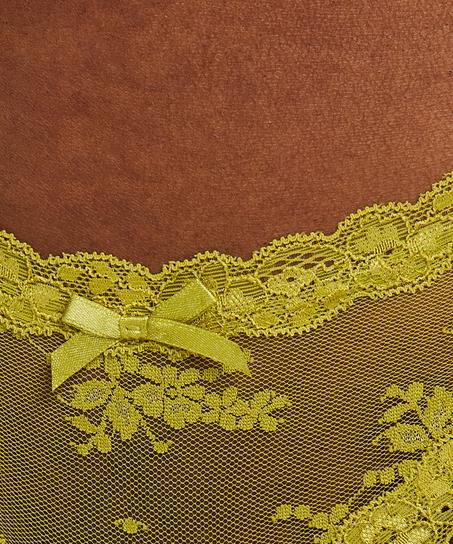 Slip brésilien V-shape mesh, Vert