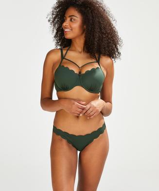 Bas de bikini brésilien Scallop Glam, Vert