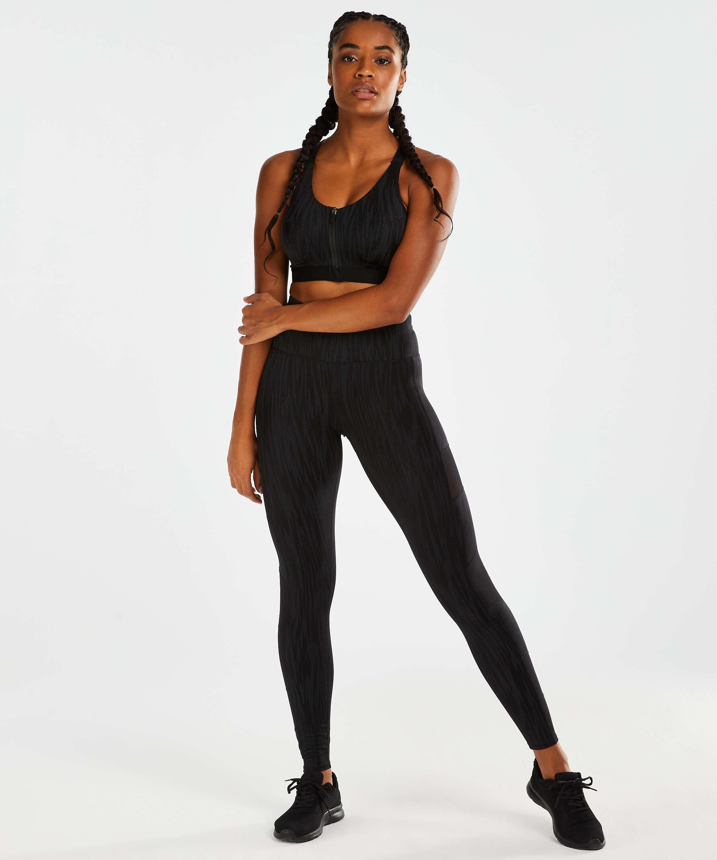 Legging de sport taille haute HKMX Mojave, Noir, main