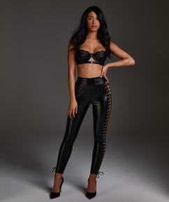 Legging Lace up, Noir