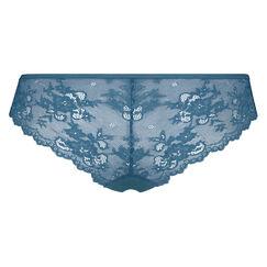 Slip brésilien Invisible Lace Back, Bleu