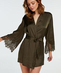 Kimono Lace Satin, Vert