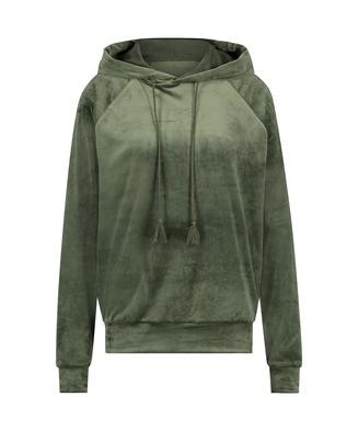 Hoodie en velours, Vert