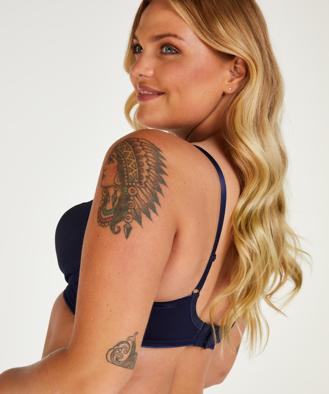 Soutien-gorge à armatures non-préformé minimiseur Nina, Bleu, main