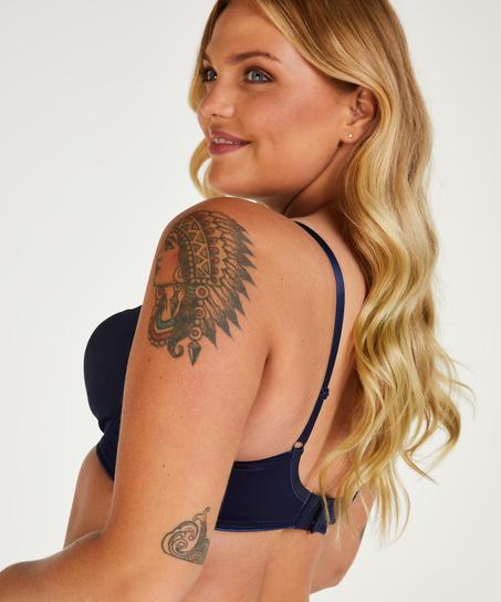 Soutien-gorge à armatures non-préformé minimiseur Nina, Bleu